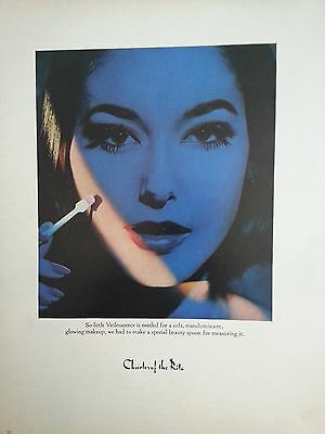 Other Collectible Ads Advertising 1953 Charles Ritz Revenscence Age Cream Liquid Woman Blue Art Print Ad