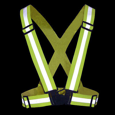 Safety Gear Security High Visibility Cycling Jogging Night Reflective Vest Strap