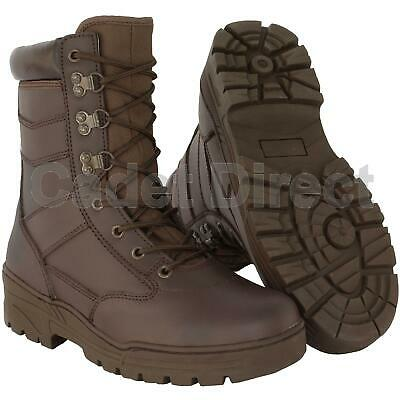 Delta Patrol Boot Full Leather, MOD Brown Army Boots (UK Size 7 to 13)