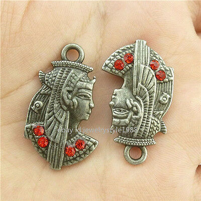 15451*10PCS Vintage Egyptian Queen Cleopatra Pendant Charm Alloy Antique