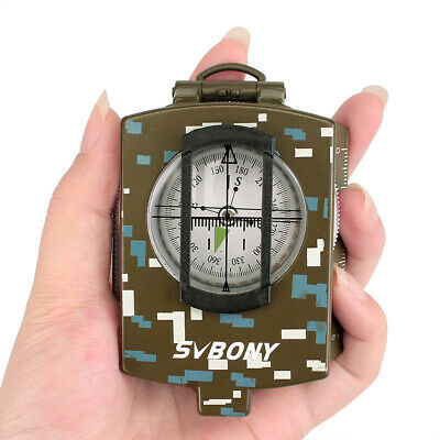 Pocket Transit Army Geology Compass for Outdoor Hiking Camping Survival Marching