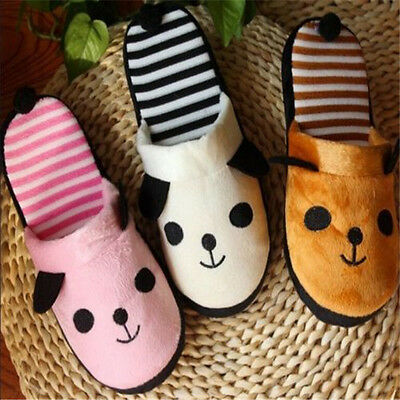 FD1110 Panda With Tail Winter Coral Velvet Warm Soft Anti-slip Home Slipper ☆