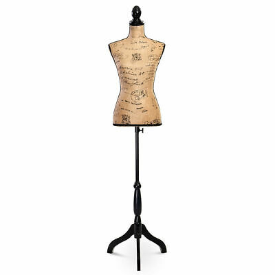 Goplus Female Mannequin Torso Dress Form Display W/ Black Tripod Stand New