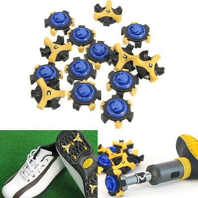 14x Golf Shoe Spike Spare Replacement Cleat Champ Fast Twist Screw Studs Stinger