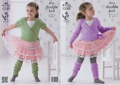 Girls DK Ballet Cardigans & Leg Warmers Knitting Pattern King Cole - 3712