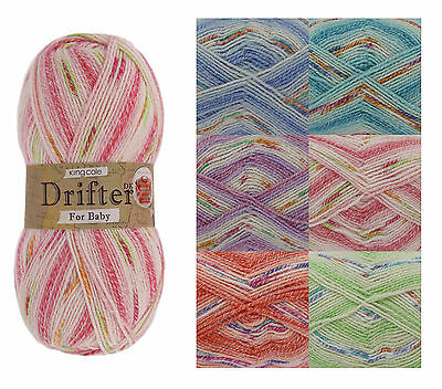 King Cole Drifter Double Knit Yarn for Baby Soft Acrylic Blend DK Wool 100g Ball