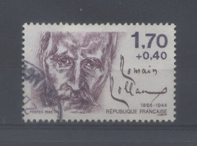 FRANCE TIMBRE OBLITERE N° 2355 PERSONNAGES CELEBRES 1985 ROMAIN ROLLAND o2