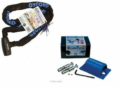 OXFORD GP STRONG SECURITY CHAIN LOCK 1.5m & SOLD SECURE GROUND/WALL ANCHOR
