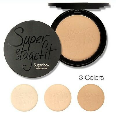 Maquiagem Pressed Powder Finish Face Makeup Compact Powder With Sponge Palette