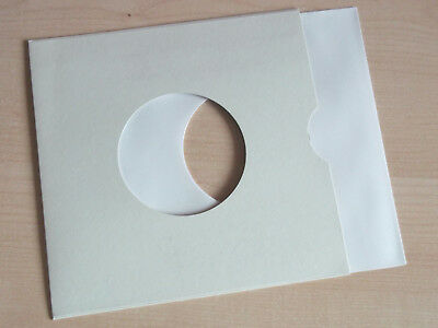 """40 of 7"""" vinyl record white paper sleeves 90 gsm with 40 7"""" card sleeves"""