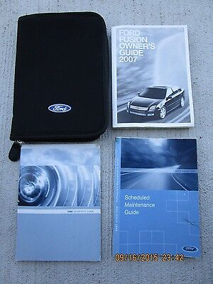 2007 - 07 Ford Fusion User Owner Manual Handbook Guide Information Book