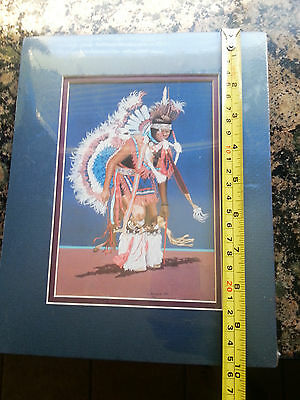 "Vintage And Rare ""fancy Dancer"" By J. Balloue Print 1988--Ships In 1 Day"