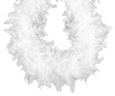 Heavyweight Chandelle Feather Boa White 120 gm 72 in 6 Ft