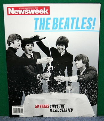 THE BEATLES! 50 Years Since Newsweek Special Commemorative Issue June 2012 MINT