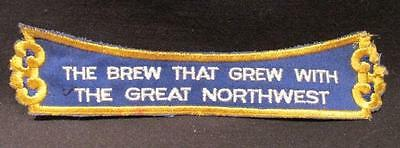 The Beer that grew with the great northwest vintage Schmidt brewery patch 8""