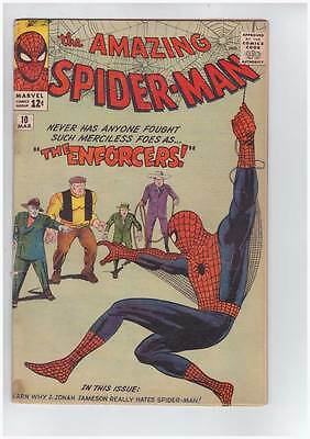 Amazing Spider-Man # 10  The Enforcers !  grade 3.5 scarce book !