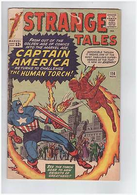 Strange Tales # 114  Captain America vs. the Torch ! grade 4.5 scarce book !