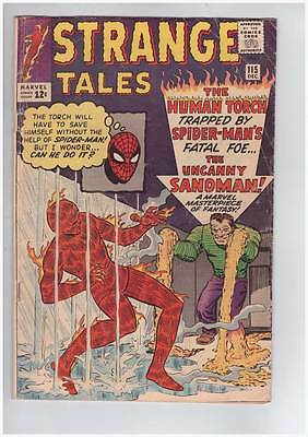 Strange Tales # 115  Origin of Doctor Strange !  grade 4.5 scarce book !