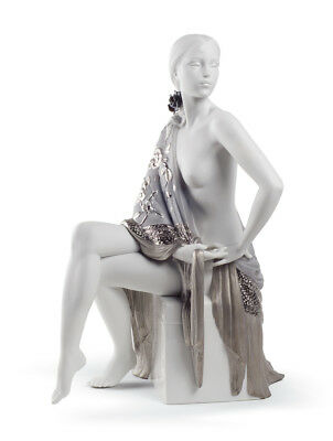 Lladro Nude With Shawl Re-Deco #8673 Brand New In Box  Large Elegant Bargain F/s
