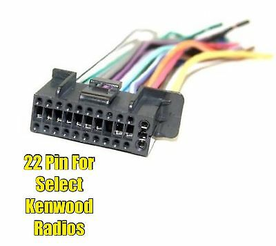 car stereo radio replacement wire harness for some jensen pin car stereo radio replacement wire harness plug for select kenwood 22 pin radios