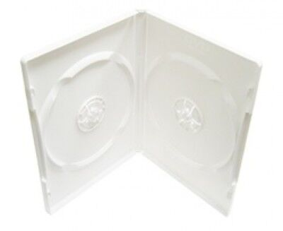 100 PREMIUM STANDARD Solid White Color Double DVD Cases (100% New Material)