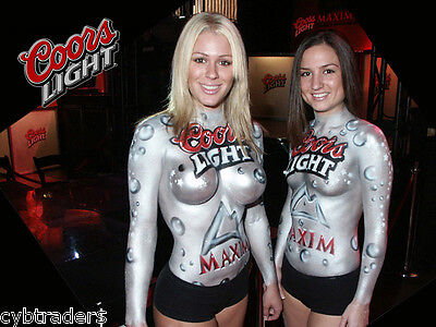 Coors Light Sexy Beer Party Girls  Refrigerator / Tool Box Magnet
