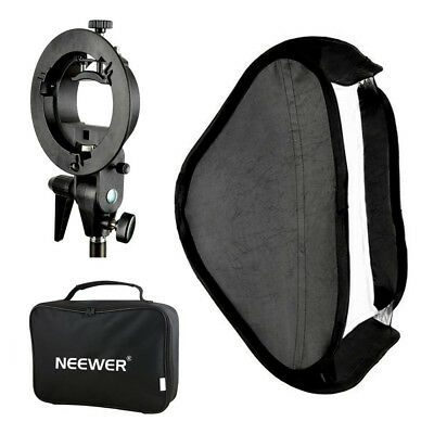 Neewer Softbox 60x60mm Difusor con S-Tipo Soporte Mount de Flash Speedlite Foto