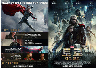 Thor-The Dark World/Korea Movie POSTER DOUBLE SIDED MOVIE POSTER/A3 Size