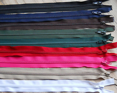"NYLON OPEN ENDED ZIP / CHOOSE YOUR SIZE & COLOUR- 10""-34"" -No. 5  weight ***"