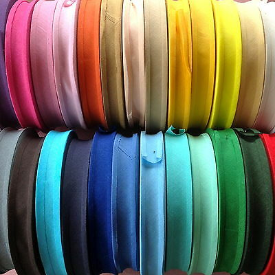 """5M Best Quality Cotton Bias Binding-25 Mm/1"""" Wide. Choose From 32 Colours ***"""