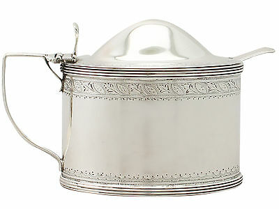 Antique George III Sterling Silver Mustard Pot