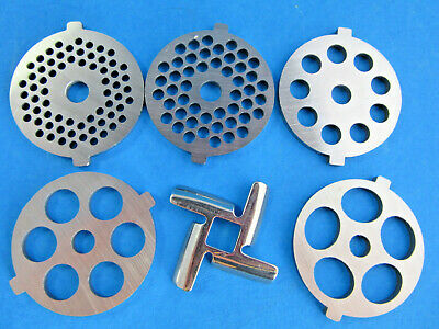 6 pc SET Meat Grinder plates & knife for new FGA KitchenAid Mixer Food Chopper