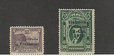 Peru, Postage Stamp, #261, 263 Mint NH, 1930