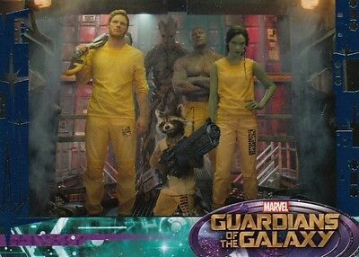 Guardians Of The Galaxy - Blue Retail Exclusive Parallel Base Card 41