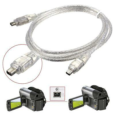 1.2M/4FT FireWire IEEEA 1394 4Pin Male Vers 4 Pin Male DV Cable Convertisseur