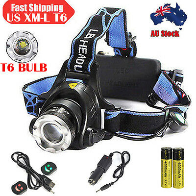 Genuine BORUiT 10000LM 3*XM-L T6 LED HeadLamp HeadLight Hunting Torch 2x18650 Ch