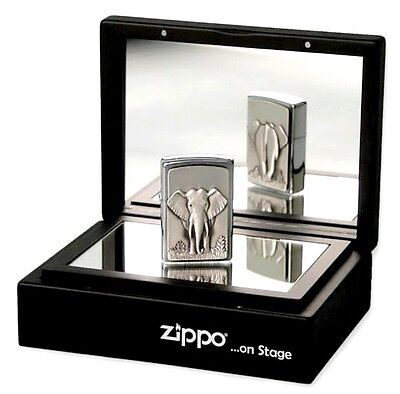 "ZIPPO ON STAGE ""ELEPHANT"" LIGHTER * NEW in MIRRORBOX *"