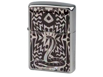 "ZIPPO ""MOTHER OF PEARL - SNAKE"" LIGHTER * NEW in WOODEN BOX *"