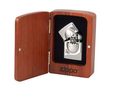 """ZIPPO SPECIAL EDITION """"COBRA-EGG TRICK"""" LIGHTER * NEW in ROSEWOOD BOX *"""