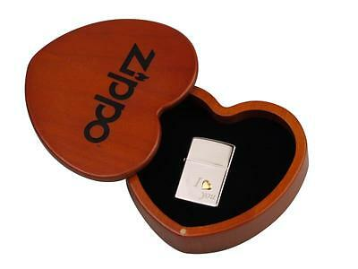 "ZIPPO SPECIAL EDITION ""I LOVE YOU"" LIGHTER - CHROME POLISHED * NEW in WOODEN BOX"