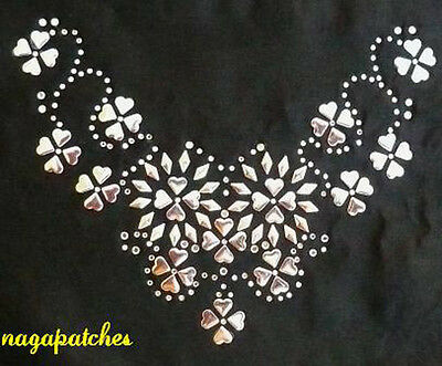 Pattern floquer / Iron-on transfer rhinestone Necklace
