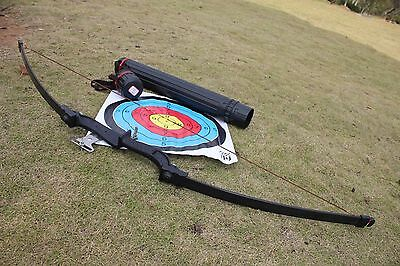 X1 Outdoor Shooting Sports Straight Pull Bow Achery Hunting 40 lbs Bow W Qiver