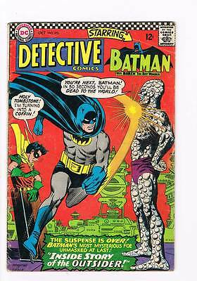 Detective Comics # 356 Inside Story of the Outsider ! grade 4.0 movie book !!