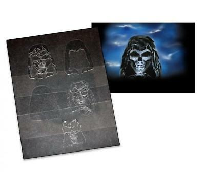 Step by Step Stencil AS-016 Skull ~ UMR Airbrush Stencil