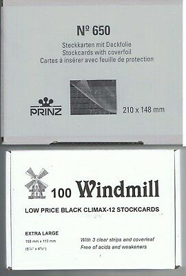 Prinz 650 / Windmill 12 Stockcards  3 or 5 - strips with coverfoil Choice of qty