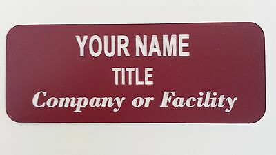 Laser Engraved Custom Personalized ID Name Badges - Multiple color combinations
