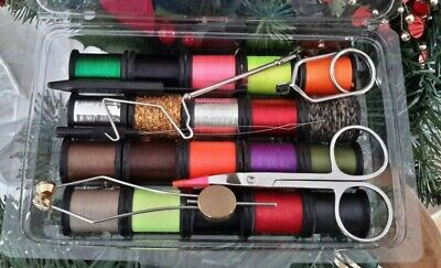 Fly Tying Kit    Thread, Floss, Tinsel,, Tools, Fly Fishing, Fly Tying,