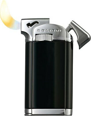 "Colibri Connaught Ii 2 ""black Lacquer/ Chrome Polished"" Pipe Lighter ** New **"