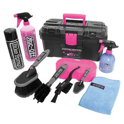 Muc-Off Ultimate Motorcycle Cleaning Kit - 10 Piece Wash - Wax - Clean - Brush