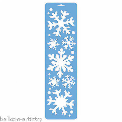 55cm Christmas Party Frozen SNOWFLAKE Snow Spray Window Stencil Decoration